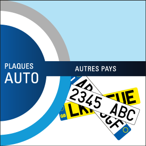 Plaques immatriculation auto pays