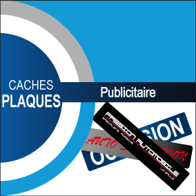Caches plaques d'immatriculation